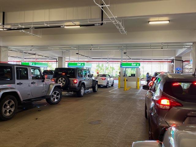 Leaving the Maui airport car rental facility