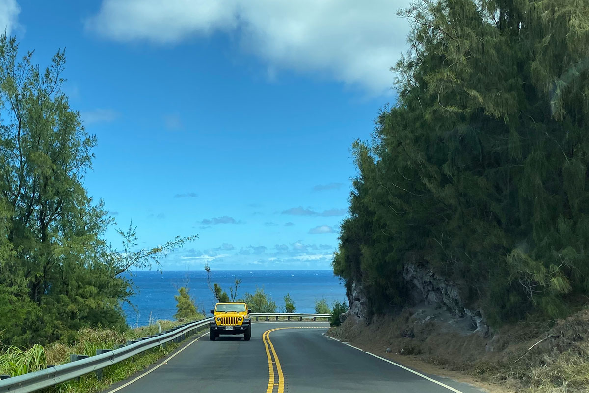 Car rental on the coast of Maui