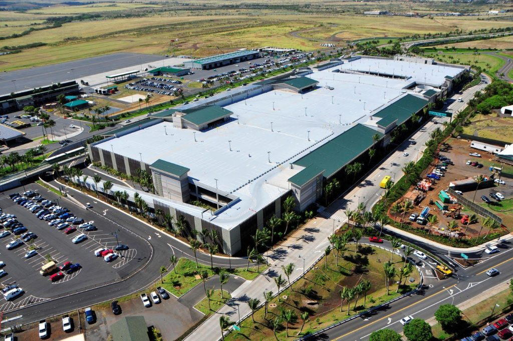 Car rental center at the Maui airport