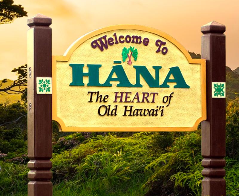 Welcome to Hana sign