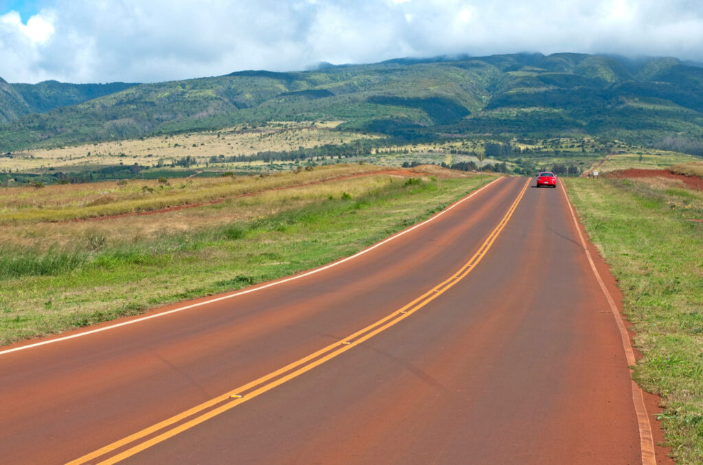 Vehicle driving on Maui highway
