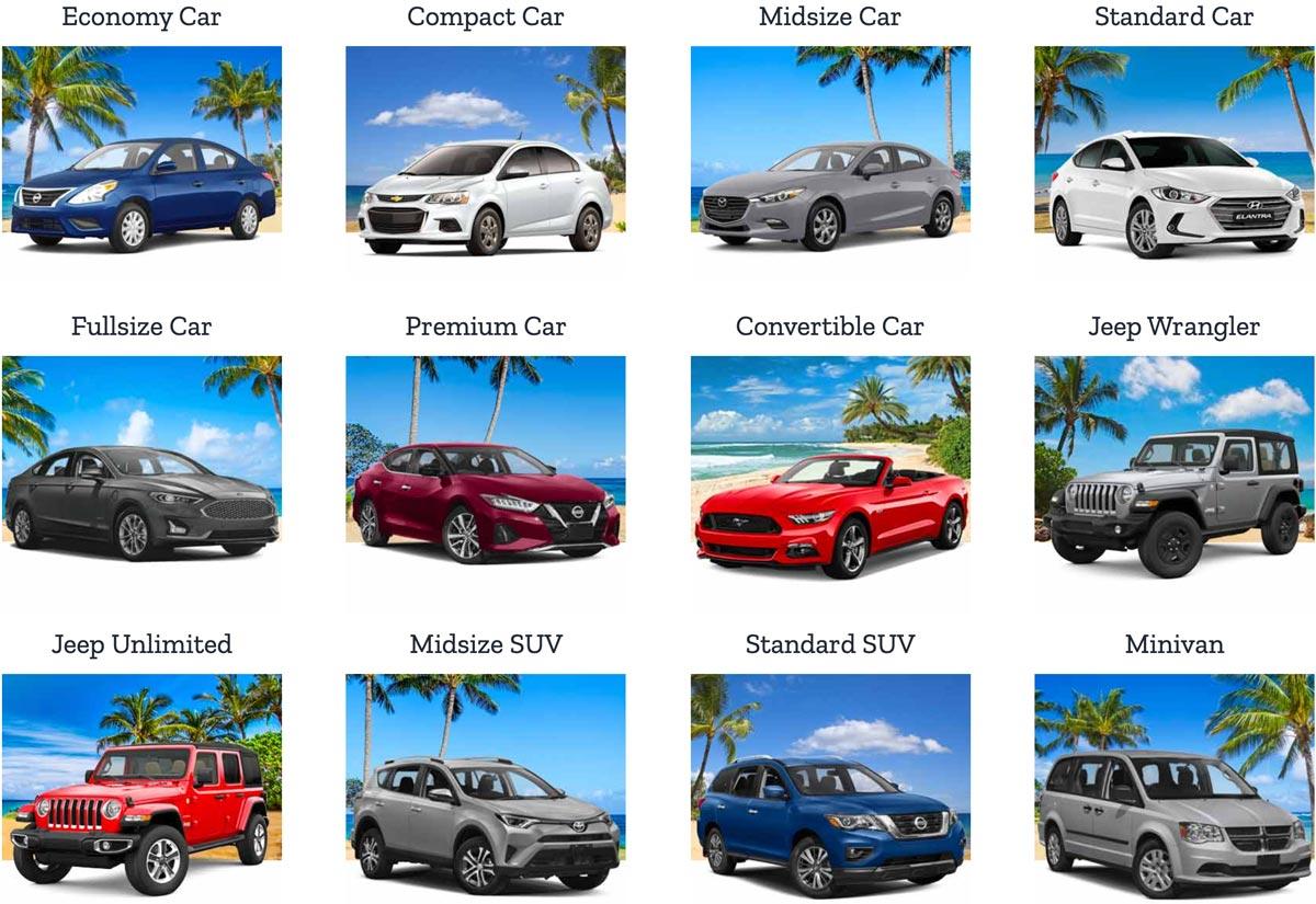 car rental selection Maui